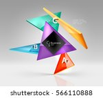 vector glass triangles... | Shutterstock .eps vector #566110888