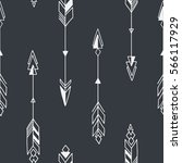 seamless hand drawn geometric... | Shutterstock .eps vector #566117929