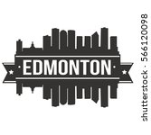 edmonton skyline stamp...   Shutterstock .eps vector #566120098