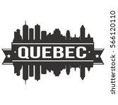 quebec skyline stamp silhouette ... | Shutterstock .eps vector #566120110