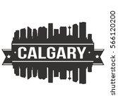 calgary skyline stamp... | Shutterstock .eps vector #566120200
