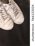 white sneakers with black... | Shutterstock . vector #566122024