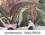 first person perspective shot... | Shutterstock . vector #566129020