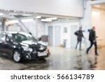 auto repair shop in bokeh ... | Shutterstock . vector #566134789