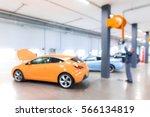 auto repair shop in bokeh ... | Shutterstock . vector #566134819