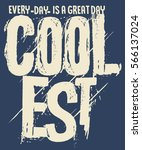 typography and tee shirt... | Shutterstock .eps vector #566137024