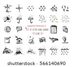 hand drawn sketch weather icons ...   Shutterstock .eps vector #566140690