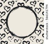 grunge circle  hearts... | Shutterstock .eps vector #566141794