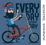 hipster  bicycle vector design | Shutterstock .eps vector #566144104
