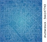 vector blueprint with town... | Shutterstock .eps vector #566147743