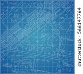 vector blueprint with town... | Shutterstock .eps vector #566147764
