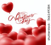 valentines day greeting card... | Shutterstock .eps vector #566149384