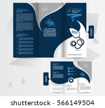 tri fold medical brochure... | Shutterstock .eps vector #566149504
