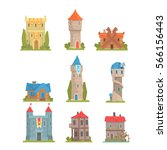 old and medieval historical... | Shutterstock .eps vector #566156443