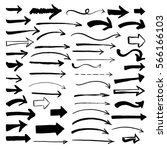 set of hand drawn arrows.  | Shutterstock .eps vector #566166103