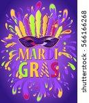 mardi gras carnival background...   Shutterstock .eps vector #566166268