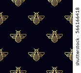 seamless pattern with insect.... | Shutterstock .eps vector #566166418