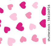 seamless hearts pattern with... | Shutterstock .eps vector #566166916