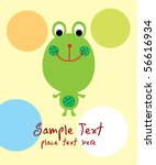 cute little frog greeting | Shutterstock .eps vector #56616934