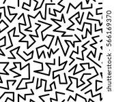 trendy memphis style seamless... | Shutterstock .eps vector #566169370