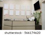 interior of a reception | Shutterstock . vector #566174620