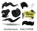 set of black paint  ink brush... | Shutterstock .eps vector #566174908