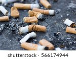 Cigarette Butts. Smoking Is Ba...