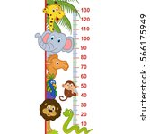 zoo animal height measure  ... | Shutterstock .eps vector #566175949