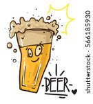 cute beer. cartoon vector... | Shutterstock .eps vector #566185930