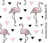 seamless pattern with pink... | Shutterstock .eps vector #566186470