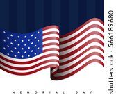colored memorial day graphic... | Shutterstock .eps vector #566189680