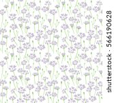 Meadow. Wildflowers Pattern....