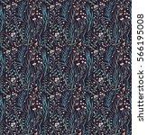 meadow. wildflowers pattern.... | Shutterstock .eps vector #566195008