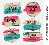 set of sale  discount stickers... | Shutterstock .eps vector #566201524