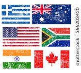 collection of popular world... | Shutterstock .eps vector #566203420