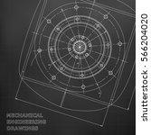 mechanical engineering drawings.... | Shutterstock .eps vector #566204020