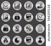 set of 16 editable logical... | Shutterstock .eps vector #566205118