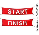 start and finish lines  red... | Shutterstock . vector #566205343