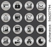 set of 16 editable analytics... | Shutterstock .eps vector #566207794