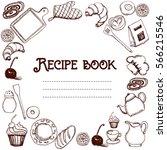 design of recipes book. hand... | Shutterstock .eps vector #566215546