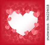 happy valentine's day greeting... | Shutterstock .eps vector #566224618
