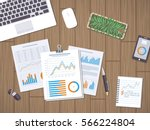 work with documents  statistic  ... | Shutterstock .eps vector #566224804