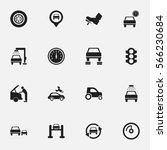 set of 16 editable traffic... | Shutterstock .eps vector #566230684