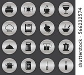 set of 16 restaurant icons....