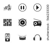 set of 9  sound icons. includes ...