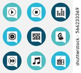 set of 9  mp3 icons. includes...