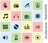 set of 16  media icons....