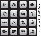 set of 16  training icons....