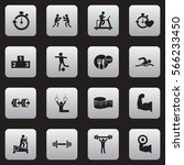 set of 16 healthy icons....