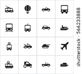 set of 16 transport icons....